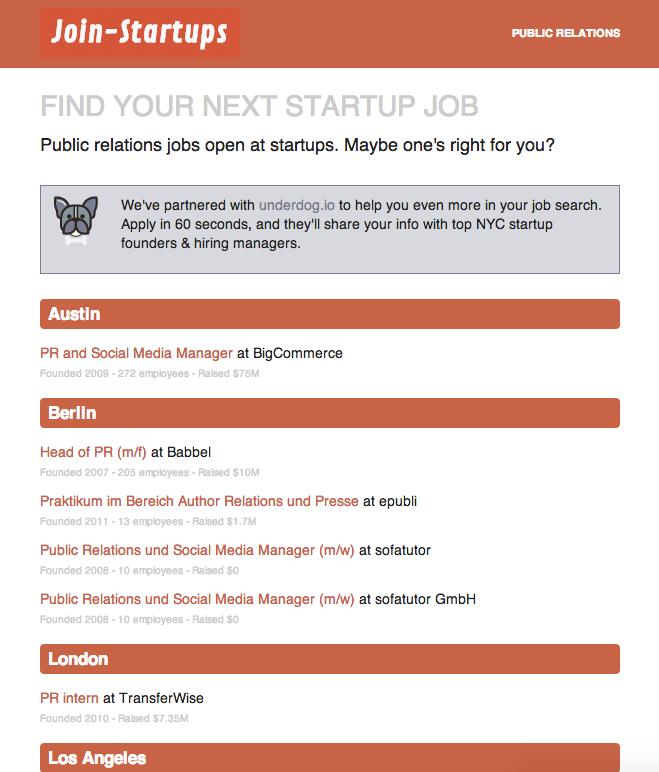 find a new startup job in new york city join startups. Black Bedroom Furniture Sets. Home Design Ideas